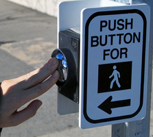 Push button to cross